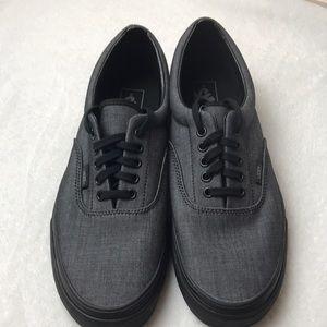 Vans Era Mono Chambray Black mens shoes size 10
